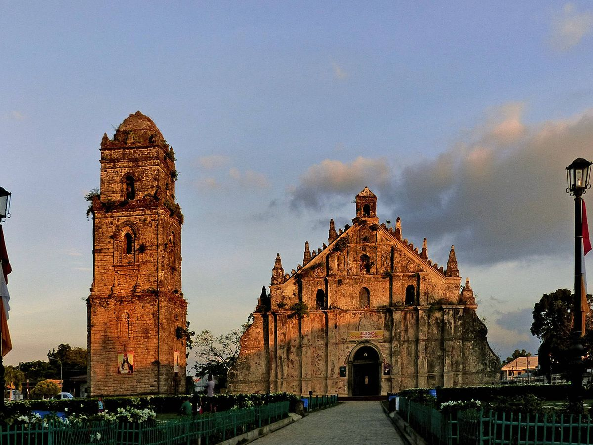 Foto: Iglesia en honor a Santa Agustina ubicada en Paoay, al norte de Filipinas. (Bernard Spragg)