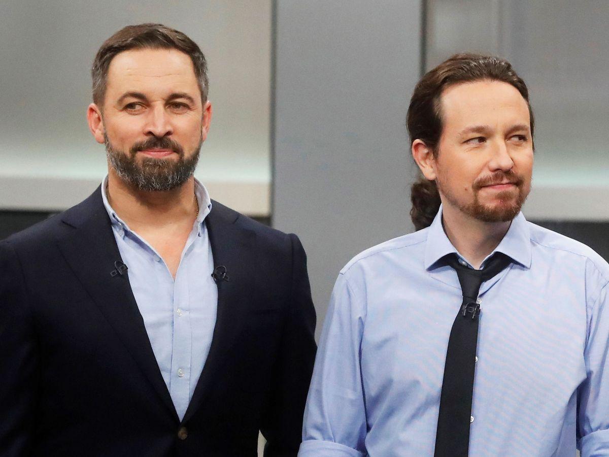 Foto: El líder de Vox, Santiago Abascal, y el de UP, Pablo Iglesias. (EFE)