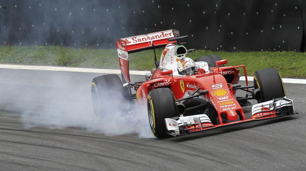 Foto: Sebastian Vettel durante el GP de Brasil.