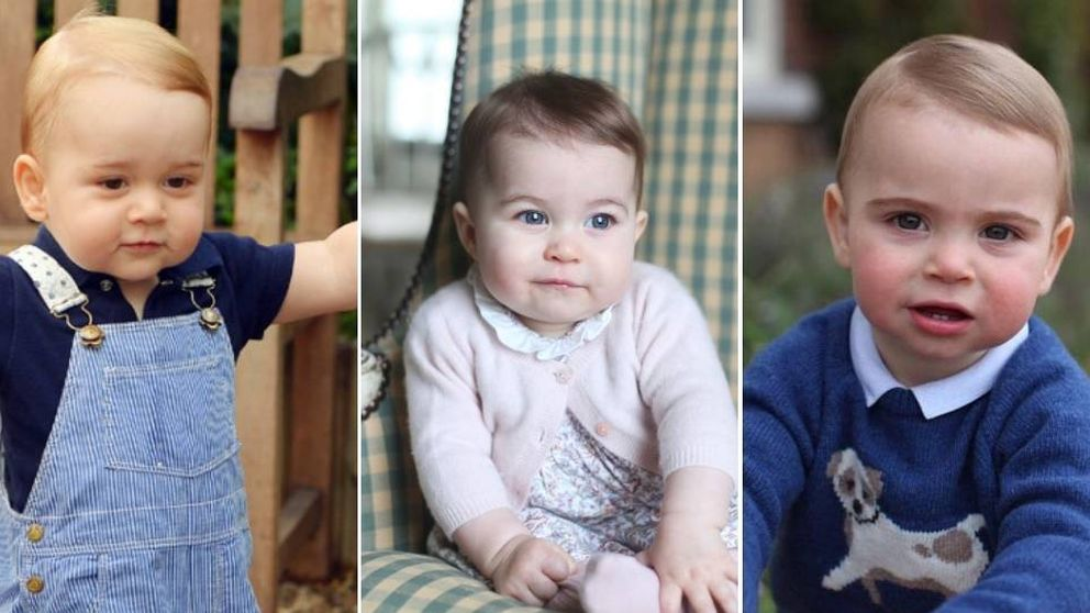 Cambridge Kids: comparamos las fotos de George, Charlotte y Louis con un año