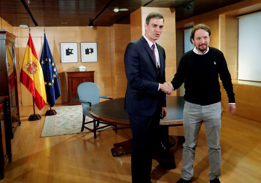 Foto: Pedro Sánchez y Pablo Iglesias, el pasado 11 de junio en el Congreso. (EFE)