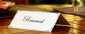 Reservar mesa... ¿y pagar una señal?