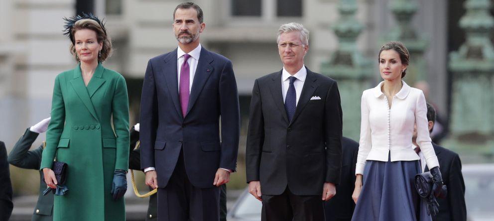 Foto: Los Reyes de Bélgica dan la bienvenida a Felipe y Letizia