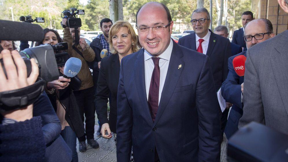 Foto: El presidente de la Región de Murcia, Pedro Antonio Sánchez, en Caravaca de la Cruz. (EFE