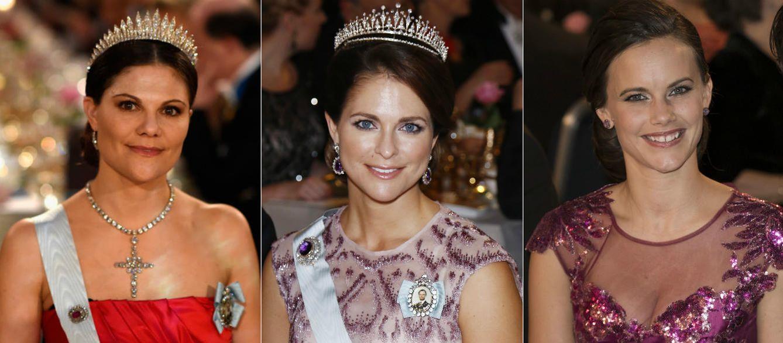 Foto: Victoria, Magdalena y Sofía en los premios Nobel de 2014 (Gtres)