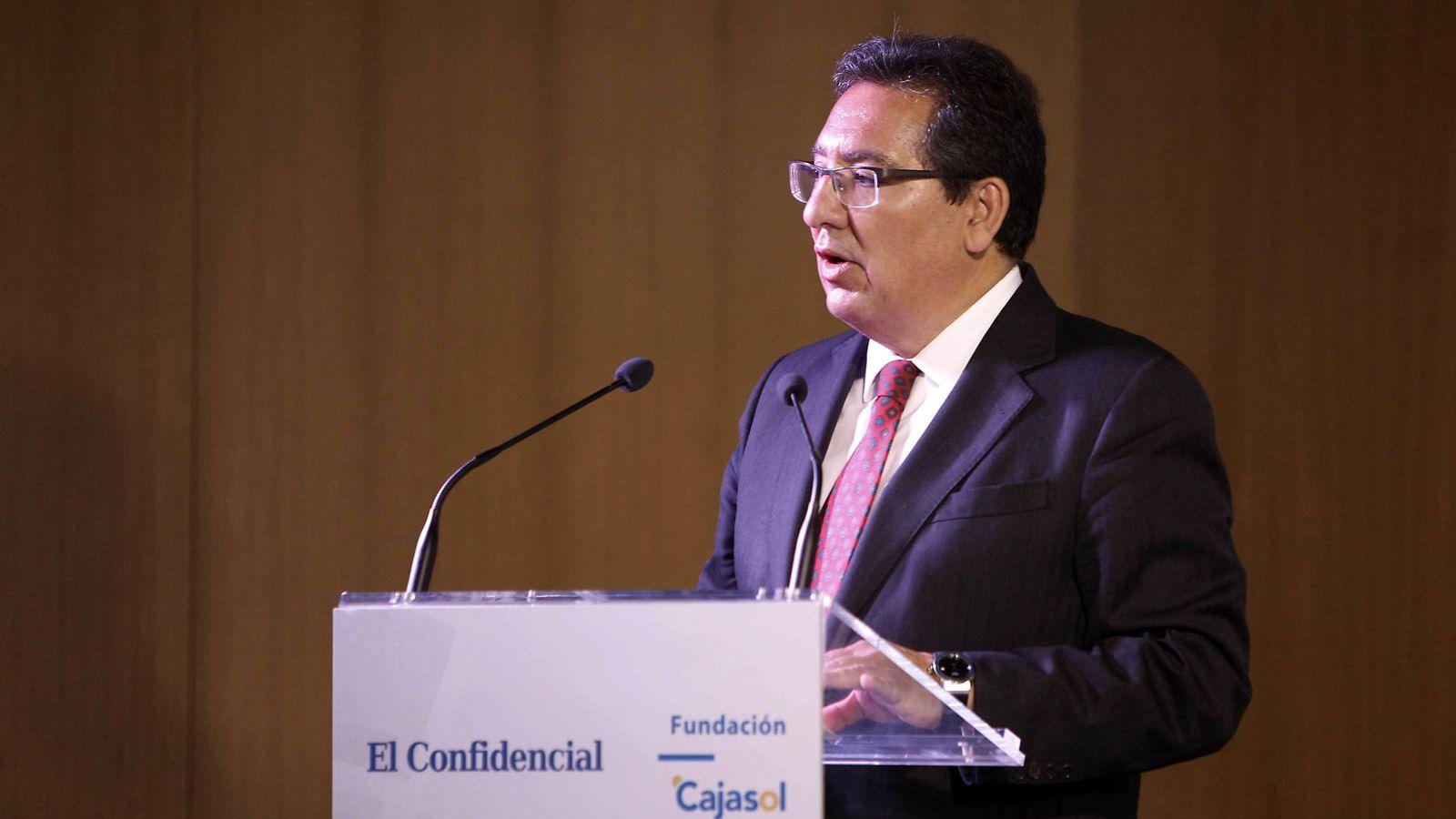Foto: El presidente de la Fundación Cajasol, Antonio Pulido. (Foto: Fernando Ruso)