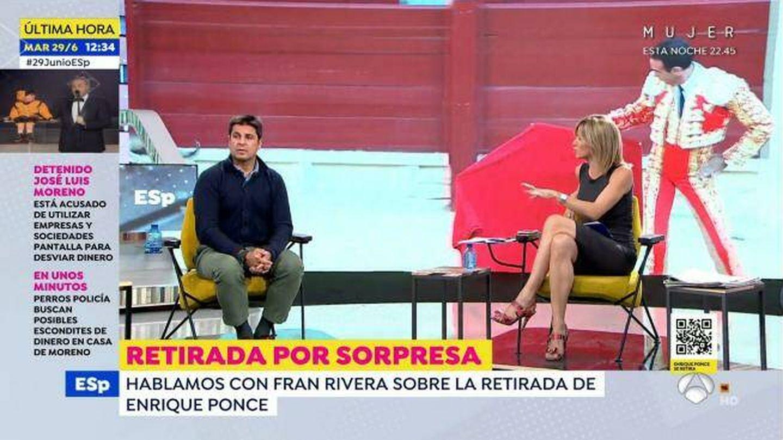 Fran Rivera, en 'Espejo público'. (Atresmedia)