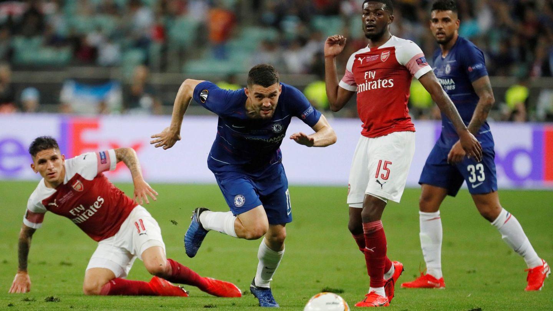 Kovacic, durante la final de la Liga Europa. (Reuters)