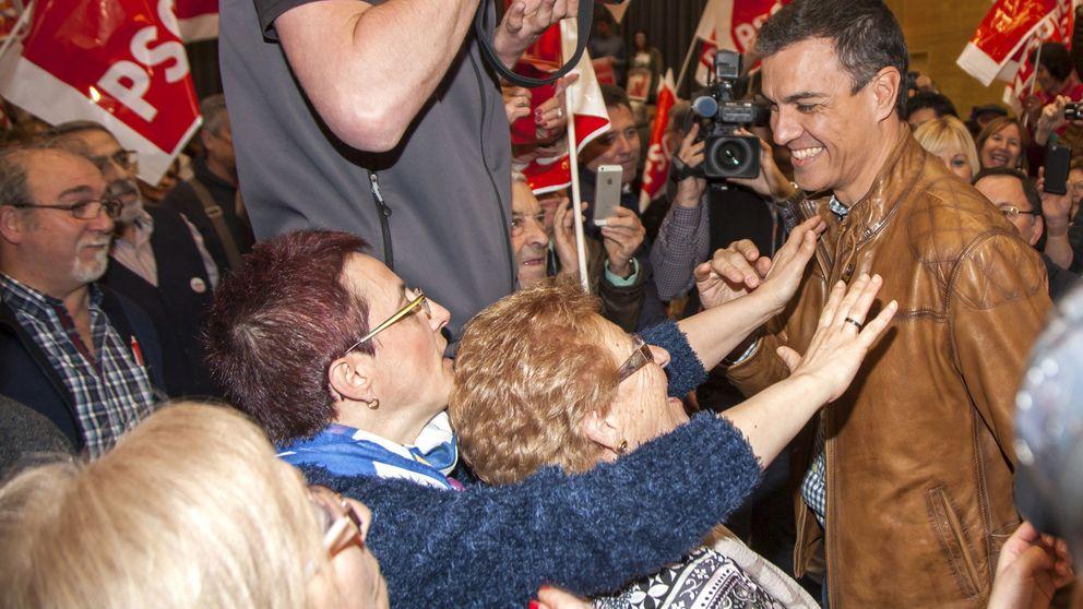 Sánchez abre oficina de su candidatura en el castizo barrio de Chamberí