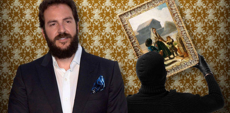 Foto: Borja Thyssen y el Goya de la discordia en un fotomontaje de Vanitatis