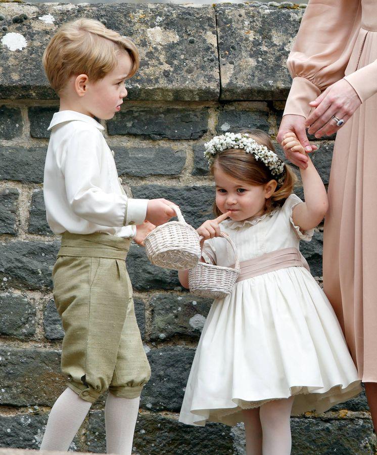 Foto: Los príncipes George y Charlotte en la boda de Pippa Middleton. (Getty Images)