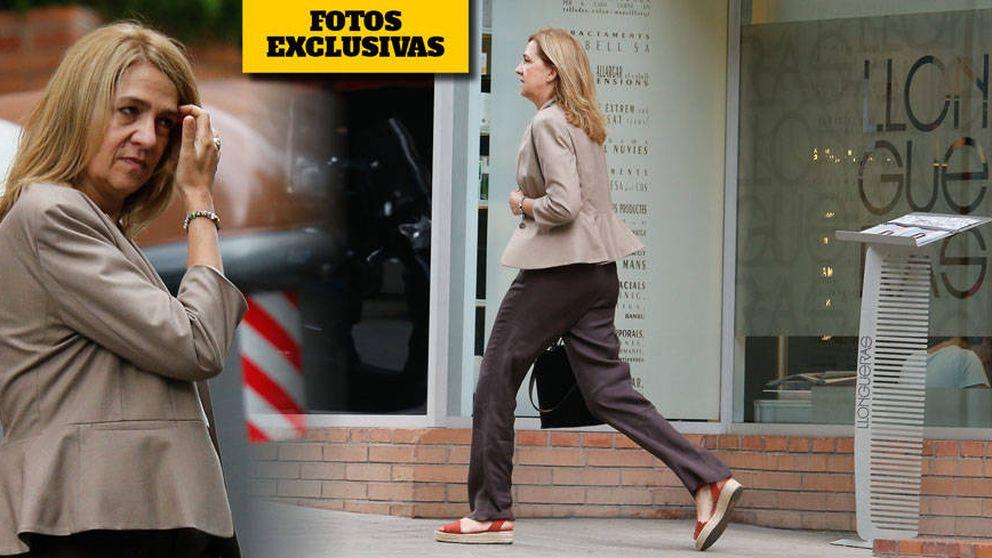 Peluquería, trabajo y familia: la última visita de la infanta Cristina a Barcelona