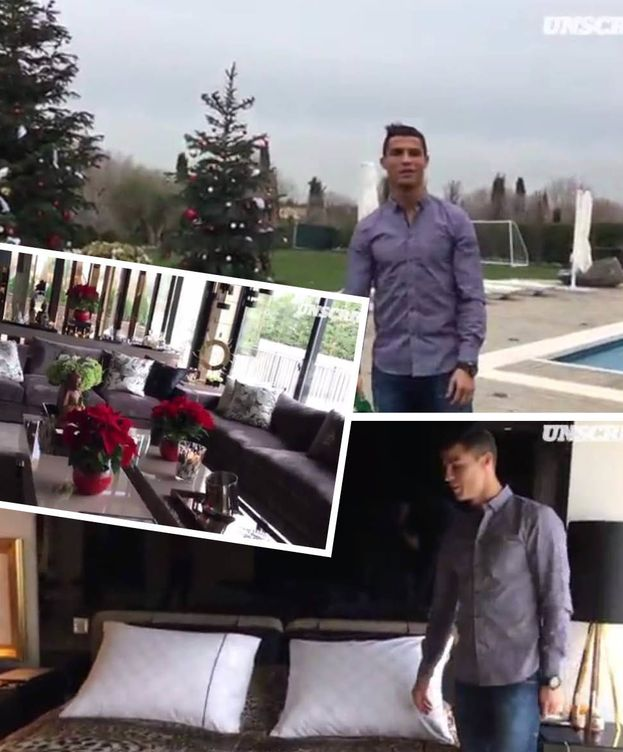 Foto: Cristiano Ronaldo en un fotomontaje en el que muestra su casa por dentro y por fuera (Vanitatis)