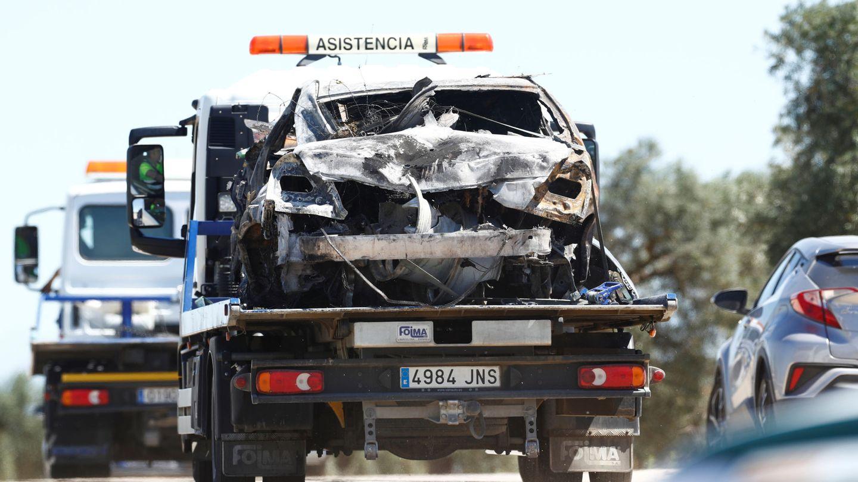 Imagen del coche en el que viajaba José Antonio Reyes. (Reuters)