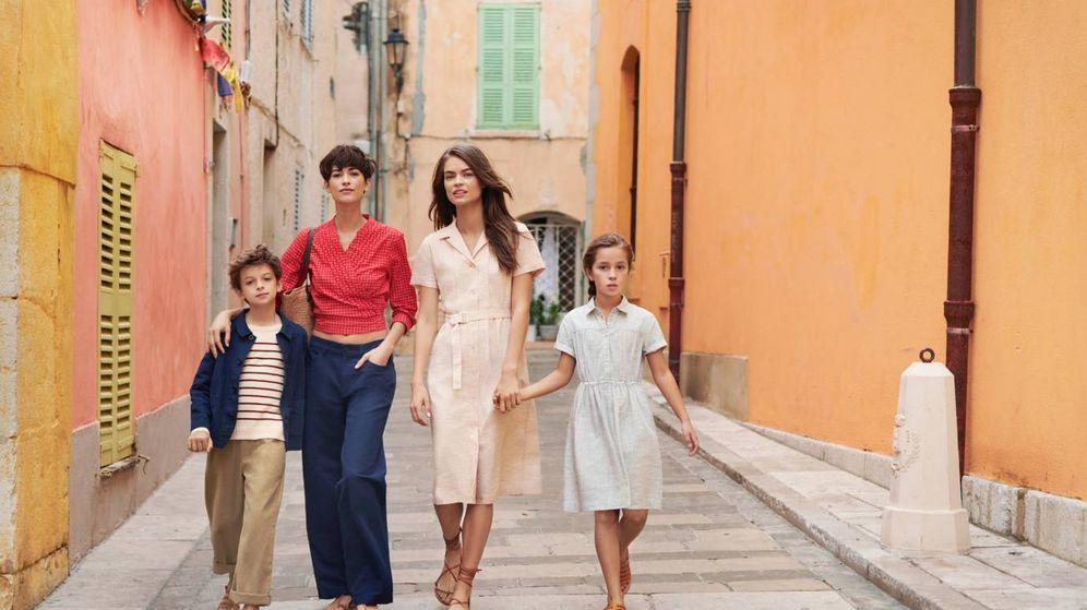 Foto: Imagen de la campaña de la colección para mujer y niño de Ines de la Fressange para Uniqlo. (Cortesía de la marca)