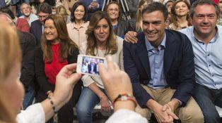 Sánchez y Susana vuelven a cruzarse la mirada