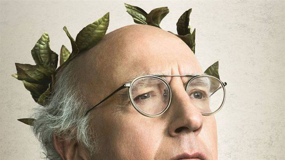 Foto: Larry David en un cartel promocional. (HBO)