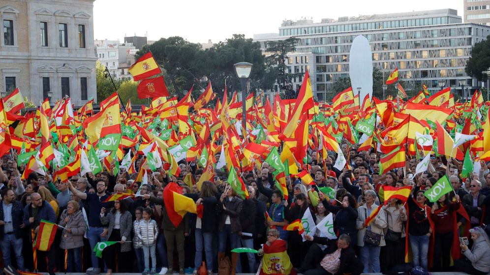 Foto: Mitin de vox en Madrid. (EFE)