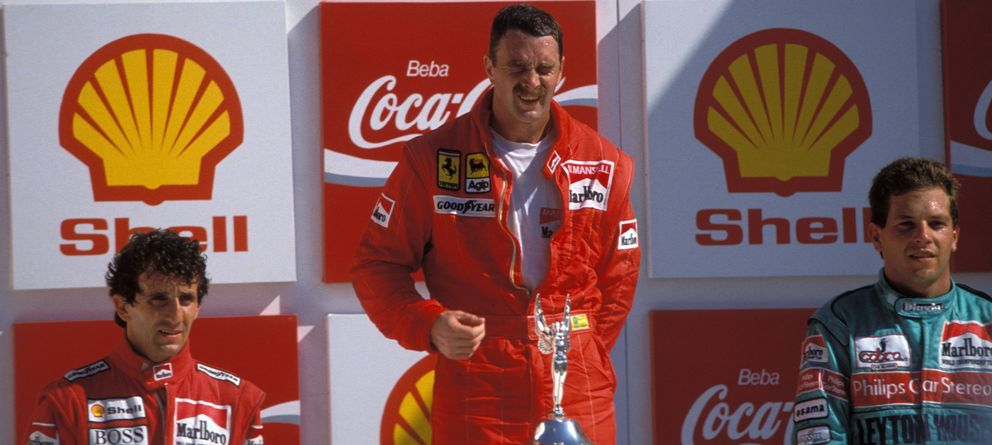Foto: Nigel Mansell en el Gran Premio de Brasil de 1989 (Imago).