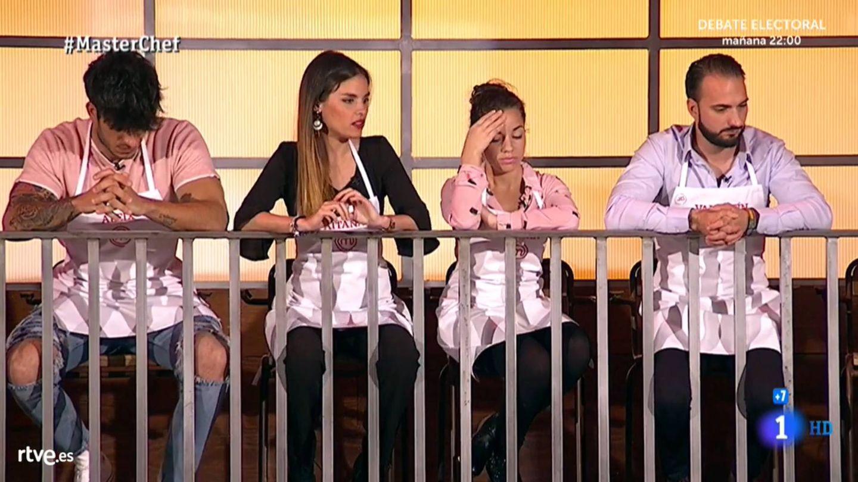 Aleix, Aitana, Samita y Valentín, en 'Masterchef 7'. (TVE)
