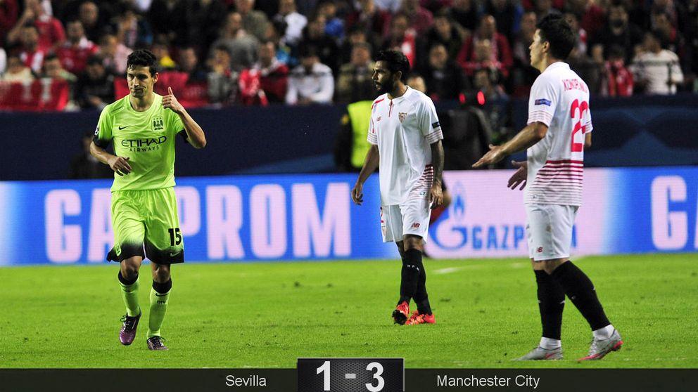 El Sevilla se empeñó en morir demasiado pronto ante un valiente City