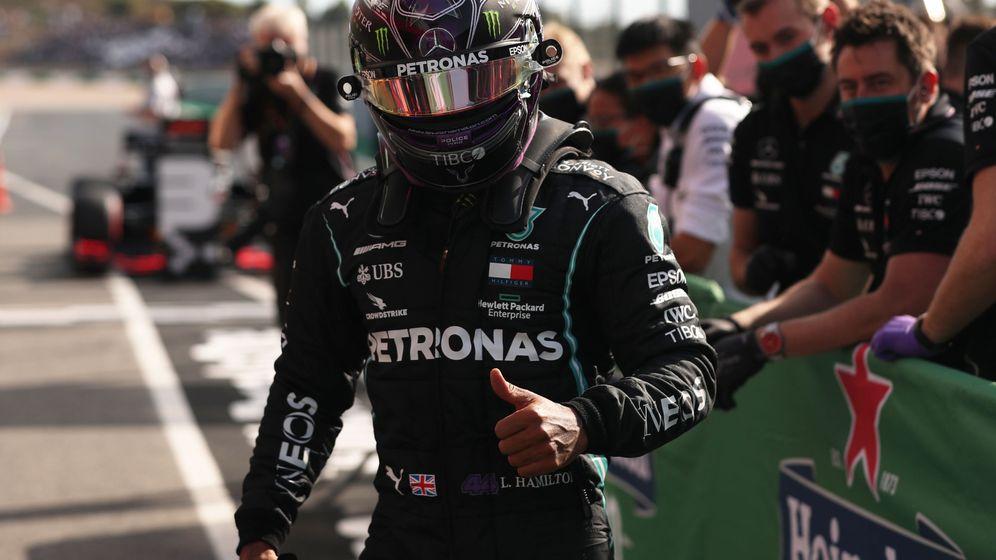 Foto: Hamilton logró la 97º pole de su carrera. (Reuters)