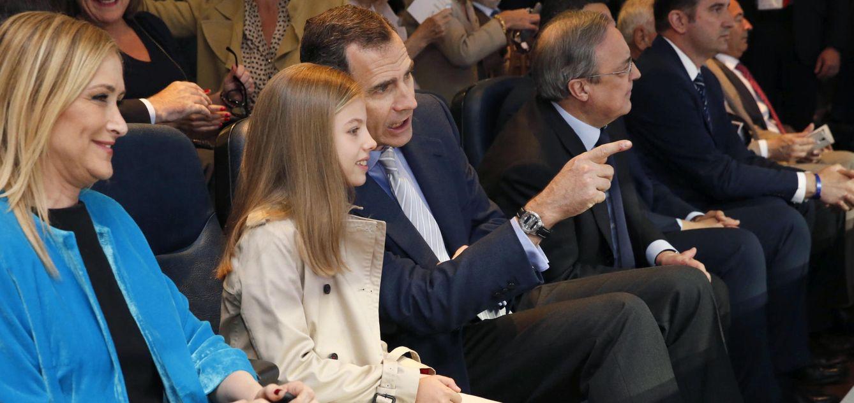 Foto: Así vivió la infanta Sofía su debut en el Santiago Bernabéu
