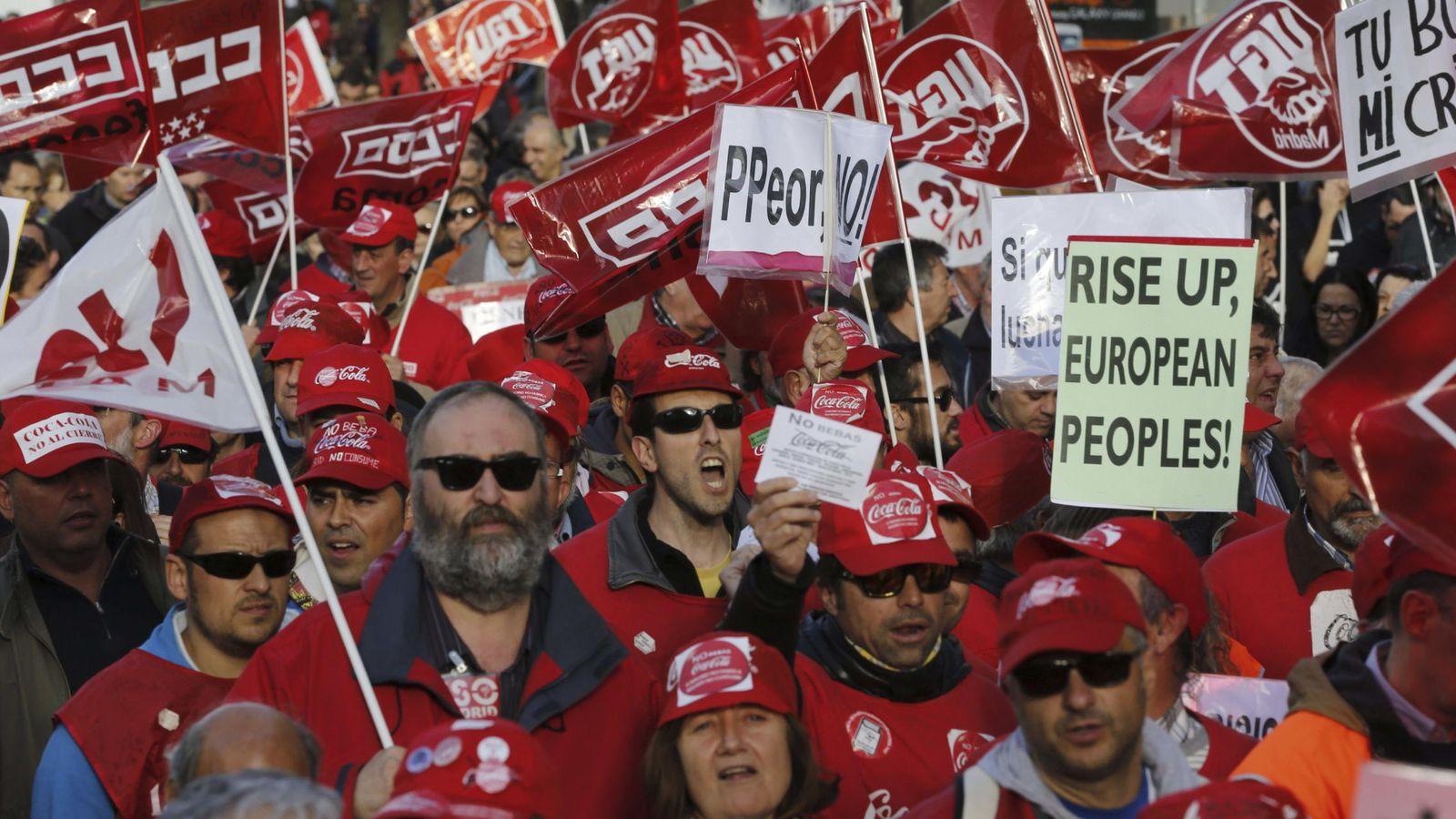 Foto: Fotografía de archivo de una manifestación contra las políticas de austeridad del Gobierno. (EFE)