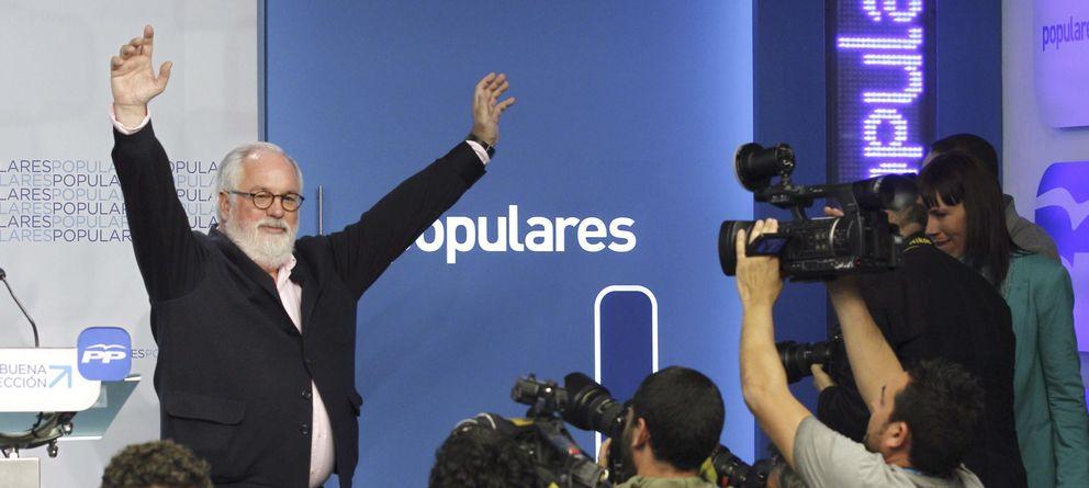 Foto: Arias Cañete en la sede del PP. (Efe)