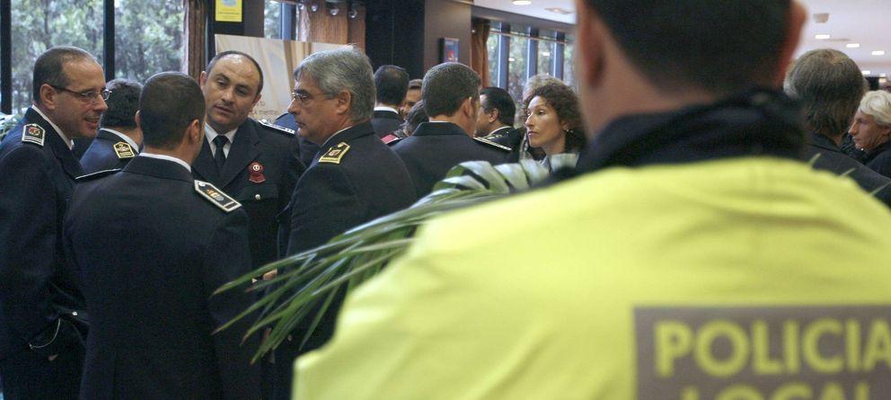 Foto: Imagen de archivo de varios jefes de Policía Local de toda España. (Efe)