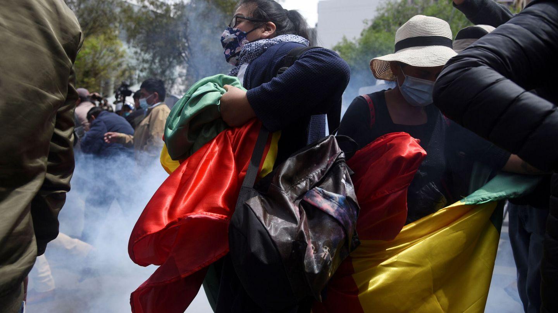 Protestas en La Paz. (Reuters)