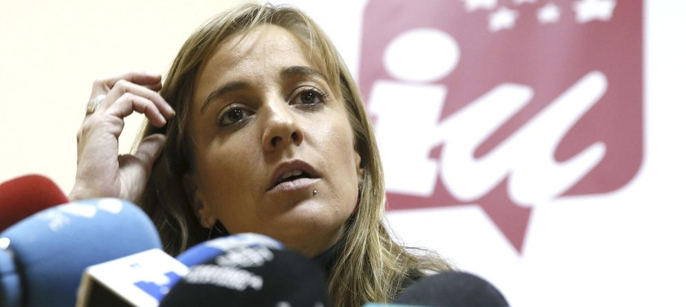 Foto: Tania Sánchez, candidata de Izquierda Unida en la Comunidad de Madrid a las elecciones autonómicas. (EFE)