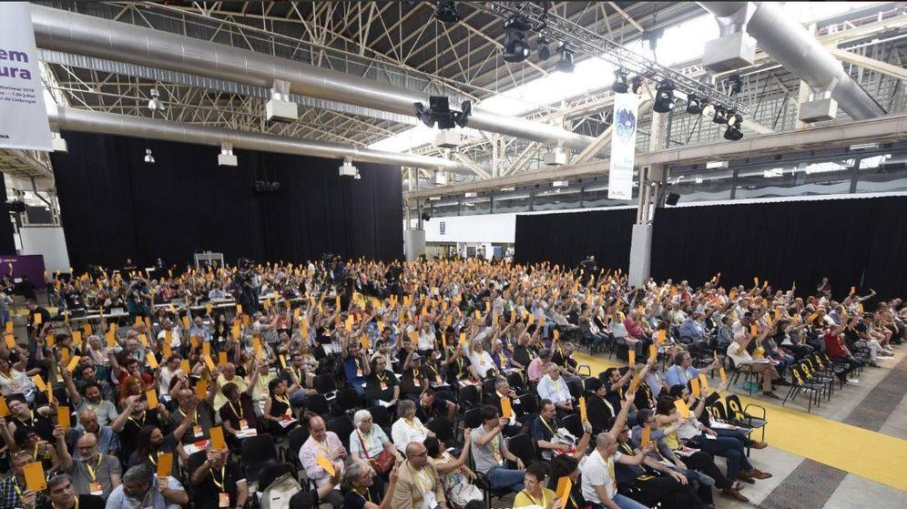 Foto: La militancia de ERC vota en la Conferencia Nacional. (Twitter @Esquerra_ERC)
