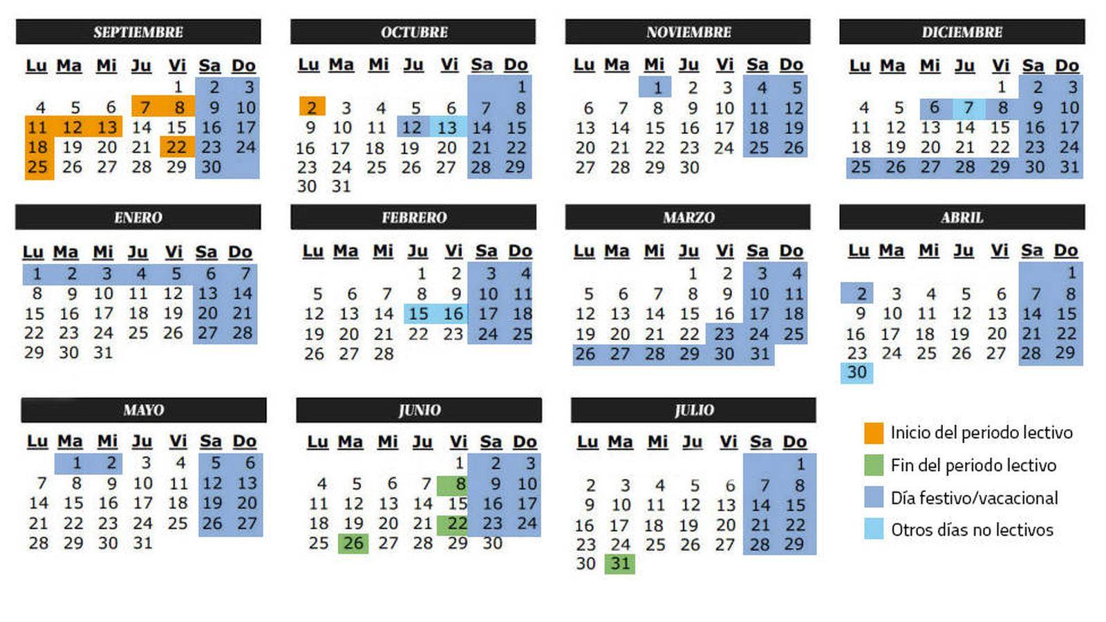 Calendario 20017.Calendario Calendario Escolar Del Curso 2017 2018 Festivos
