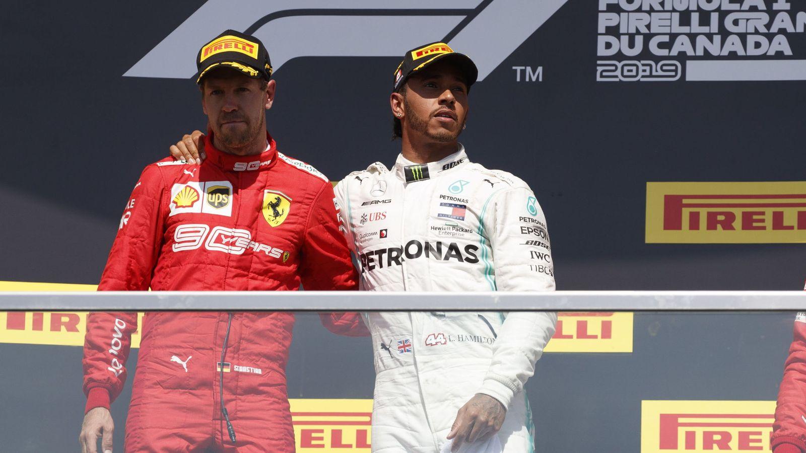 Foto: En Montreal, Lewis Hamilton subió a lo más alto del cajón a Vettel. (EFE)