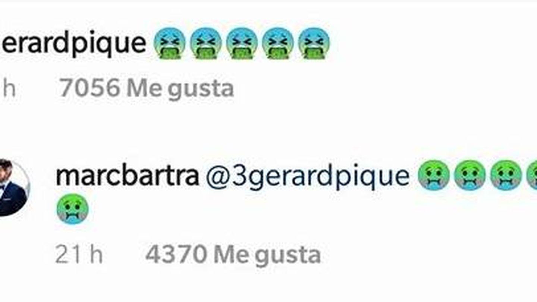 Gerard Piqué y Marc Bartra responden a Dembélé en su cuenta de Instagram