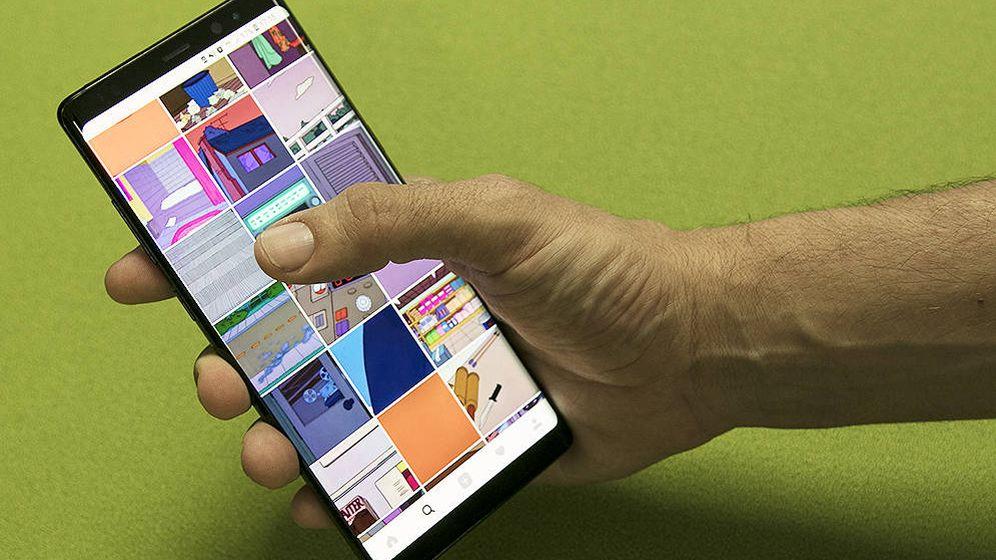 Foto: El Note 8 es un teléfono de 6,3 pulgadas de diagonal. (B. Valverde)