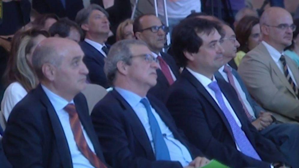 Foto: Un momento del homenaje al expresidente de Telefónica.