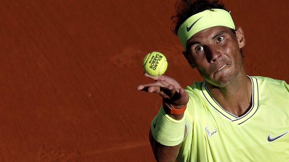 Foto: Rafa Nadal, en el encuentro del pasado viernes ante David Goffin. (EFE)