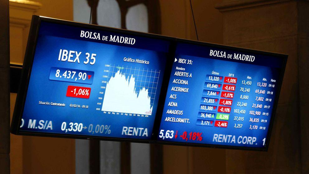 El Ibex se hunde casi un 4% presionado por la banca en plena marejada política