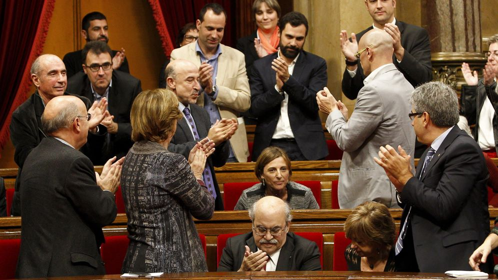 Foto: Carme Forcadell, al ser elegida nueva presidenta del Parlament (Efe)