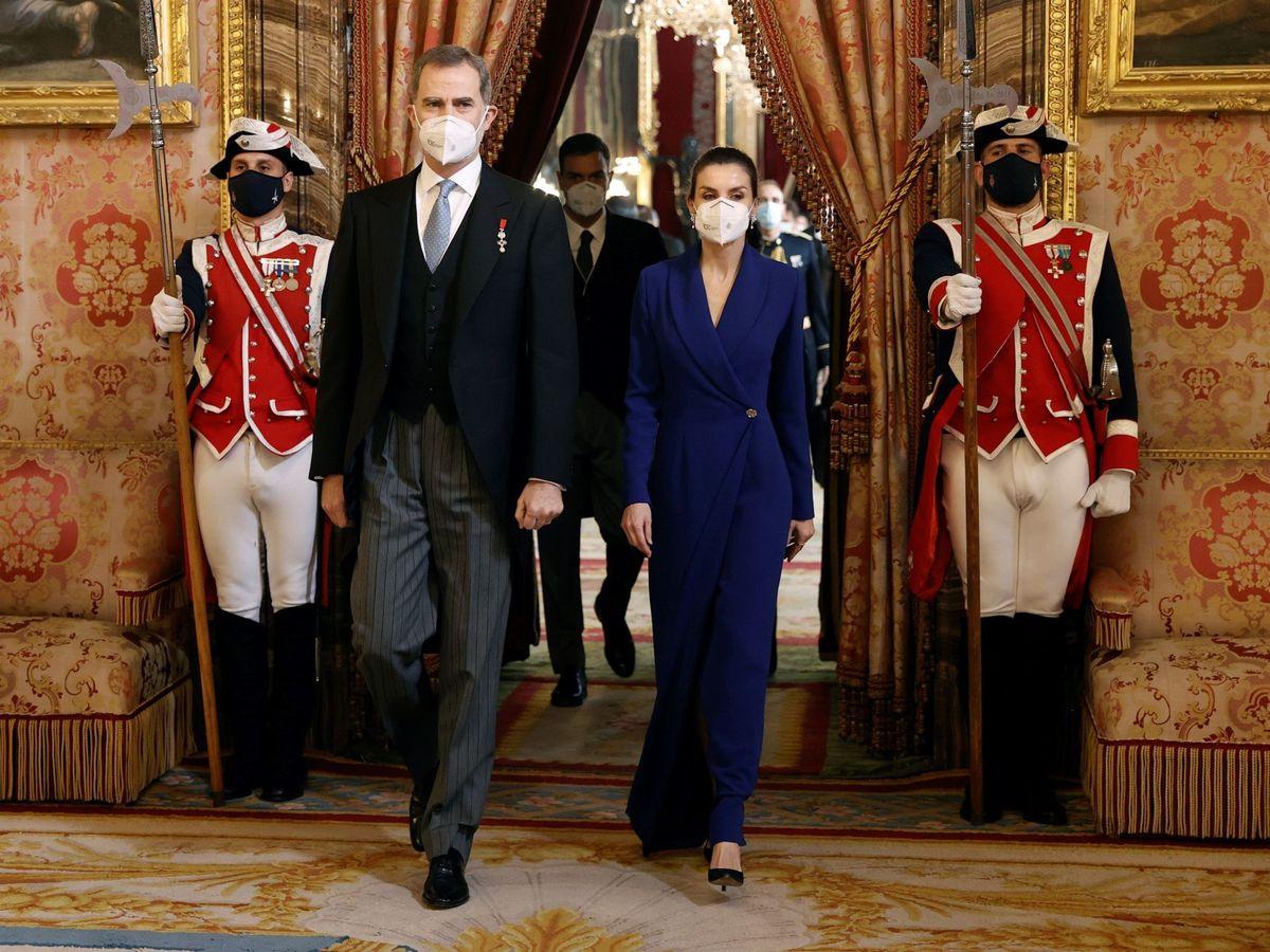 Foto: Los Reyes, durante la recepción al cuerpo diplomático. (Limited Pictures)