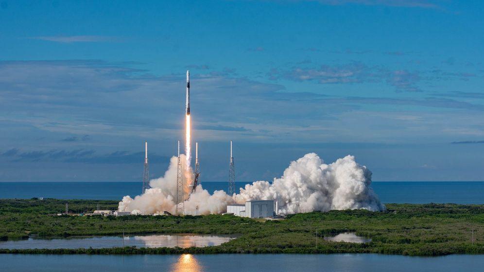 Foto: Falcon 9, el encargado de mandar satélites al espacio.