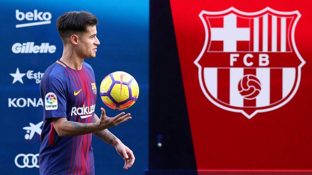 Foto: Coutinho, durante su presentación como nuevo jugador del FC Barcelona. (Reuters)