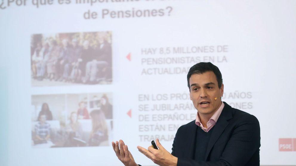 Sánchez, ausente en la tribuna en el debate de pensiones, presente en la tele