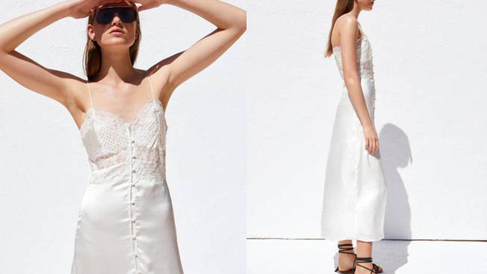 El vestido lencero de Zara con el que te podrías casar cuesta 30 euros y va a volar