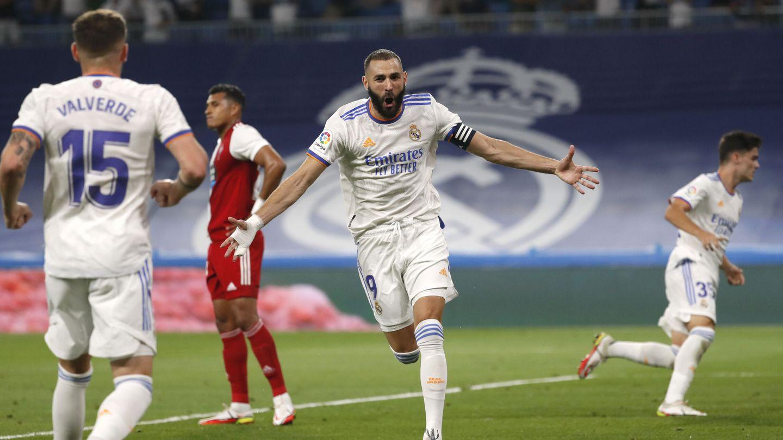 Karim Benzema volvió a salvar al Madrid. (Reuters)