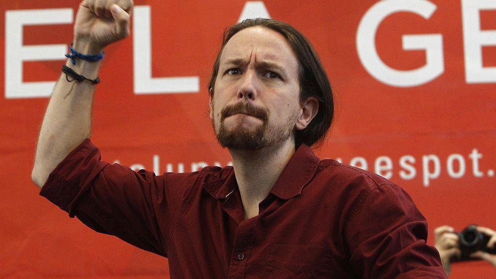 Foto: El secretario general de Podemos, Pablo Iglesias, durante su intervención en un cto político de la formación 'Catalunya Si que es Pot '. (Efe)