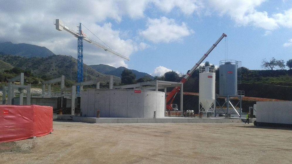 Foto: Obras en la EDAR de Nerja, aún sin inaugurar (MAGRAMA)