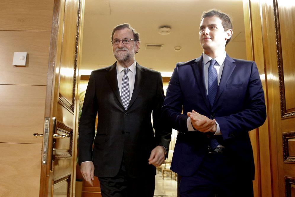 Foto: Mariano Rajoy y Albert Rivera, durante su última reunión juntos, el pasado 11 de febrero en el Congreso. (EFE)